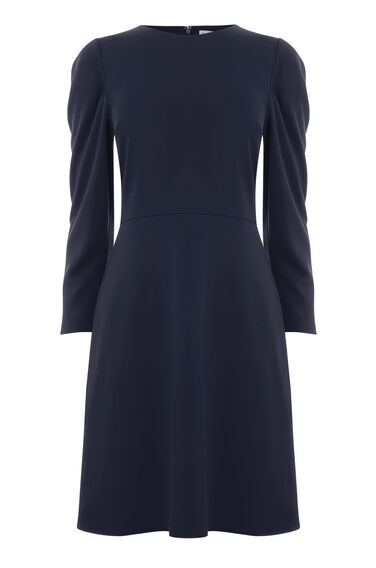 PUFF LONG SLEEVE PONTE DRESS