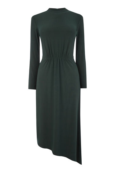 ASYMMETRIC HIGH NECK DRESS