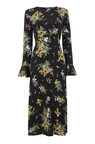 SPACED SPRIG MIDI DRESS