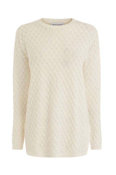 SCALLOP STITCH LONGLINE JUMPER