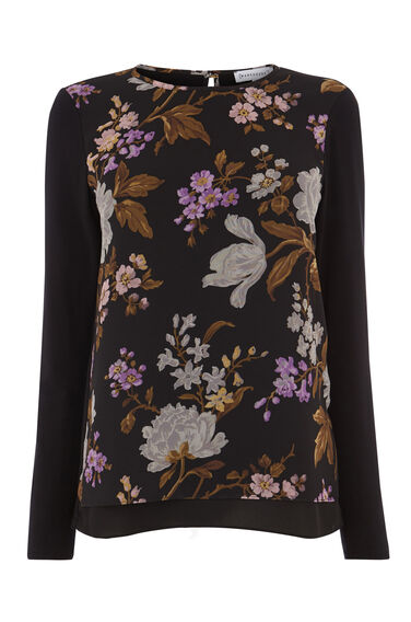 MOLLY FLORAL WOVEN FRONT TOP