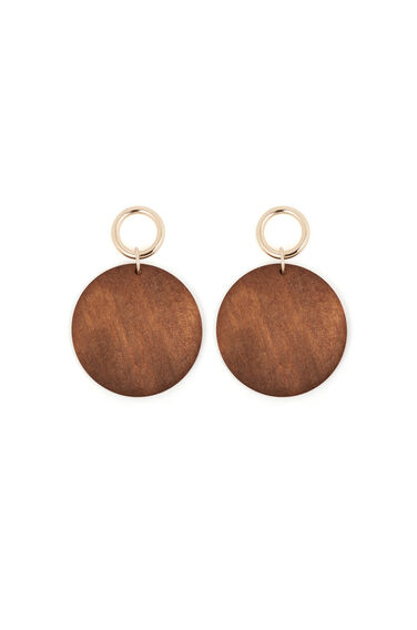 Wood Disc Drop Earrings