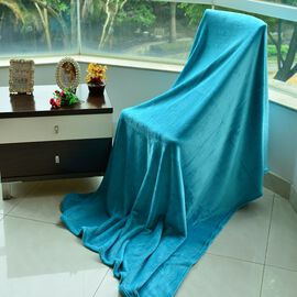 Superfine Microfibre Light Sea Green Colour Blanket (Size 200x150 Cm)