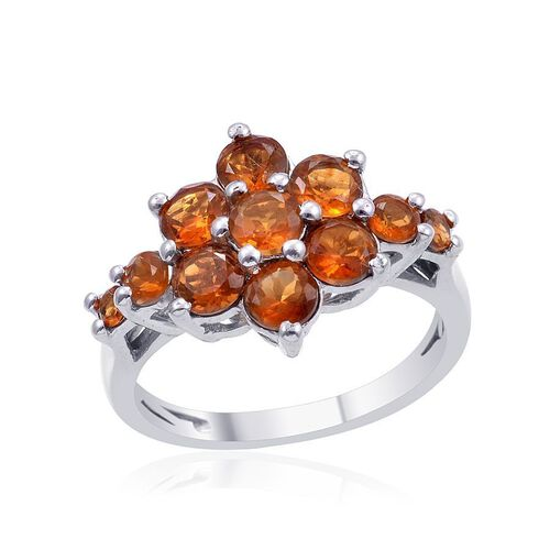 Madeira Citrine (Rnd) Ring in Platinum Overlay Sterling Silver 1.750 Ct.