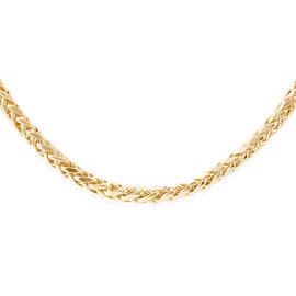 Royal Bali Collection 9K Y Gold Hand Made Diamond Cut Tulang Naga Necklace (Size 24), Gold wt 12.75 Gms.