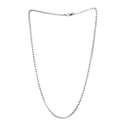 JCK Vegas Collection Sterling Silver Diamond Cut Popcorn Necklace (Size 24), Silver wt 11.00 Gms.