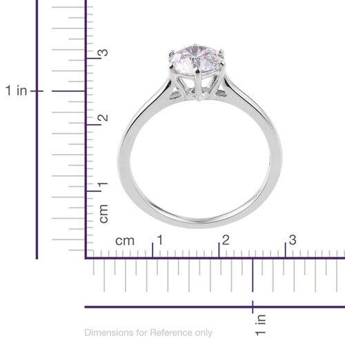 9K White Gold Solitaire Ring Made with SWAROVSKI ZIRCONIA