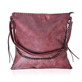 Pink Colour Shoulder Bag with Adjustable and Removable Strap (Size 38x37 Cm)