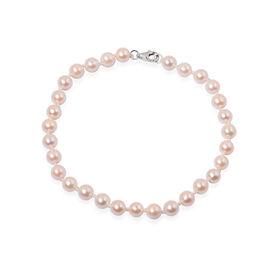 ILIANA 18K W Gold Japanese Akoya Pearl (Rnd) Bracelet (Size 7.5) 30.750 Ct.