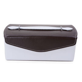 Dark Chocolate and White Colour Jewellery Box with Mirror Inside (Size 22x11x8 Cm)