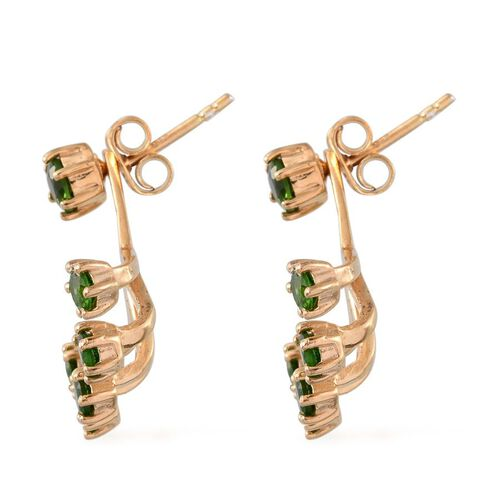 Russian Diopside (Rnd) Earrings (with Push Back) in 14K Gold Overlay Sterling Silver 1.750 Ct.