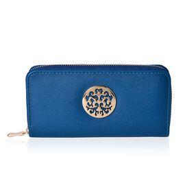 Arbra Royal Blue Colour Wallet (Size 19.5x9.5x3 Cm)