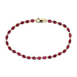 9K Y Gold Burmese Ruby (Ovl) Bracelet (Size 7.5) 7.750 Ct.