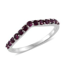 RHAPSODY 950 Platinum 0.50 Carat Pigeon Blood Burmese Ruby Wishbone Ring