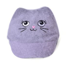 Grey Colour Cat Face Child Cap (Size 25 Cm)