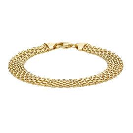 Close Out Deal Italian 9K Y Gold Bismark Bracelet (Size 7.5), Gold Wt 5.30 Gms.