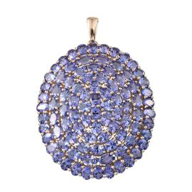 Limited Edition - 9K Y Gold AA Tanzanite (Ovl) Cluster Pendant 16.250 Ct. (Gold Wt. 7.40 Gram)