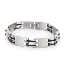 Stainless Steel Bracelet (Size 8.5) with Resin