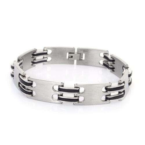 (Option 1) Stainless Steel Bracelet (Size 8.5) with Resin
