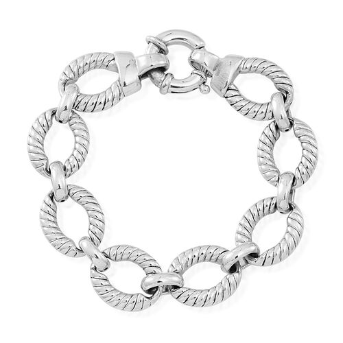 Statement Collection Sterling Silver Link Bracelet (Size 8), Silver wt 21.40 Gms.