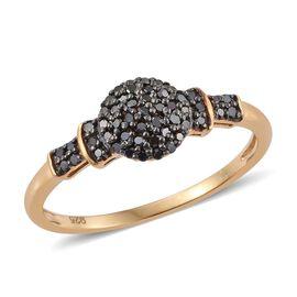Black Diamond (Rnd) Ring in 14K Gold Overlay Sterling Silver 0.250 Ct.