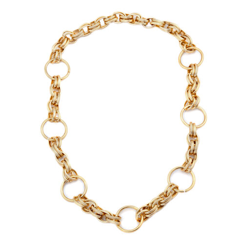 Circle Link Necklace (Size 34) in Gold Tone