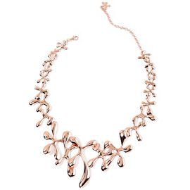 LucyQ Splat Necklace (Size 15 with 3.5 inch Extender) in Rose Gold Overlay Sterling Silver 79.72 Gms.