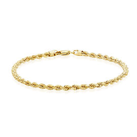 Close Out Deal 9K Yellow Gold Rope Bracelet (Size 7.5)
