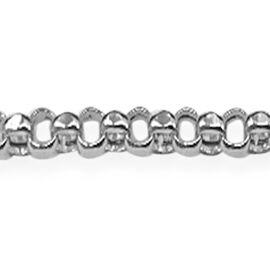 Close Out Deal 9K W Gold Diamond Cut Belcher Necklace (Size 30). Gold Wt 5.50 Gms.