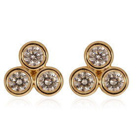 ILIANA 18K Y Gold IGI Certified Diamond (Rnd) (SI/G-H) Earrings 0.500 Ct.