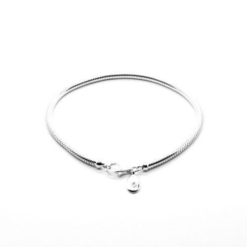 RACHEL GALLEY Sterling Silver Snake Chain Bracelet (Size 7.5), Silver wt 11.10 GM