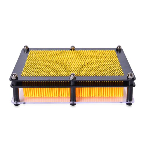 Home Decor - Yellow Colour Pin Art Impression Toy (Size 20x15x2 Cm)