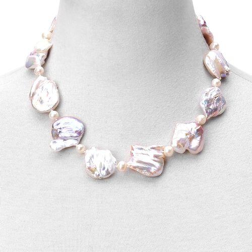 ILIANA 18K Y Gold AAAA Very Rare Organic Keshi Pearl Necklace (Size 18)