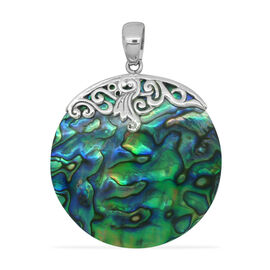 (Option 1) Royal Bali Collection Abalone Shell (Rnd) Pendant in Sterling Silver 39.500 Ct.