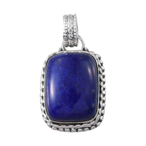 Lapis Lazuli (Cush) Pendant in Sterling Silver 21.500 Ct.