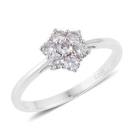 ILIANA 18K W Gold IGI Certified Diamond (Rnd) (F-G/ SI) Ring 0.500 Ct.