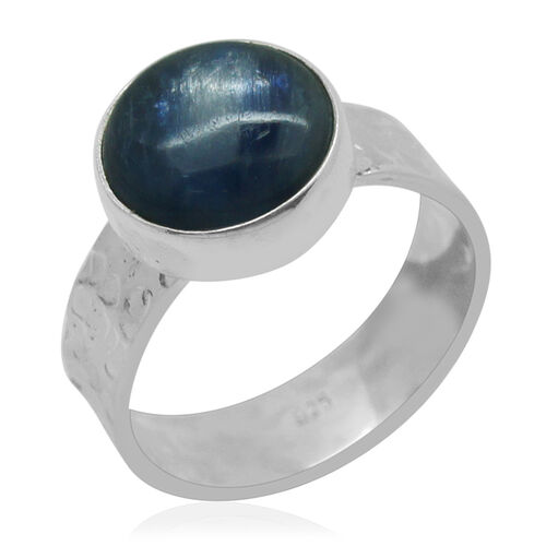 Royal Bali Collection Himalayan Kyanite (Rnd) Solitaire Ring in Sterling Silver 6.790 Ct.