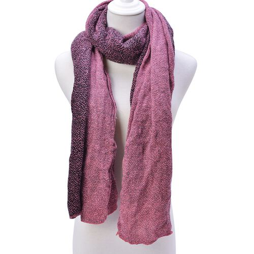 Pink and Black Colour Scarf (Size 210x70 Cm)