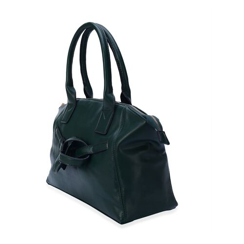 Green Colour Tote Bag (Size 39x24x13 Cm)