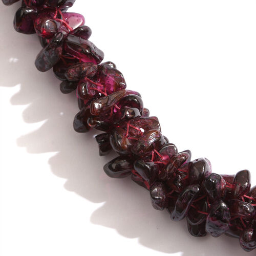 Indian Garnet Beads Necklace (Size 24) 540.000 Ct.