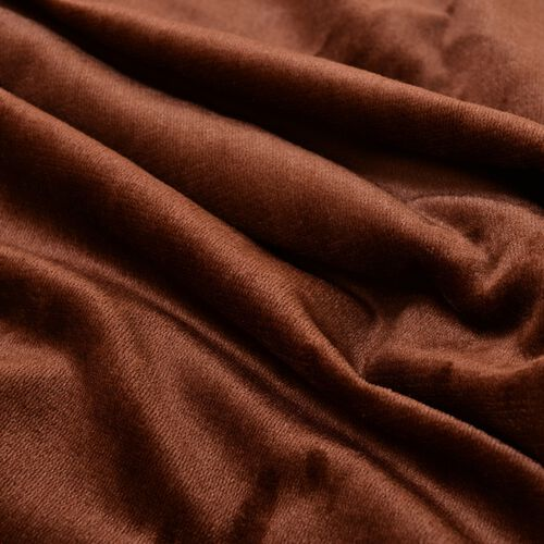 Superfine Microfibre Flannel reversible Sherpa Blanket Dark Chocolate and Cream Colour (Size 200x150 Cm)