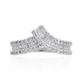 14K W Gold SGL Certified Diamond (Bgt) (I2/ G-H) Ring 1.000 Ct.