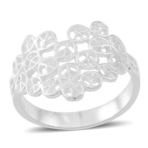 Thai Sterling Silver Peace Ring, Silver wt 3.52 Gms.