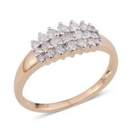 New York Close Out Deal -  14K Y Gold Diamond (I2-G/H) (Rnd) Ring 0.500 Ct.