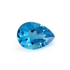 Electric Swiss Blue Topaz (Pear 22x16 Faceted 4A) 26.000 Cts