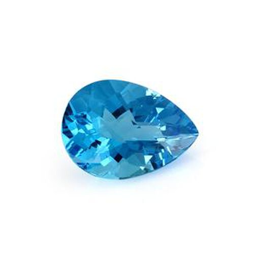 Electric Swiss Blue Topaz (Pear 22x16 Faceted 4A) 28.100 Cts
