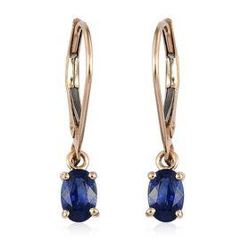 ILIANA 18K Yellow Gold 1.25 Carat Rare AAA Ceylon Blue Sapphire Lever Back Earrings