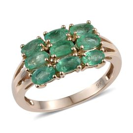 9K Y Gold Boyaca Colombian Emerald (Ovl) Ring 2.000 Ct.