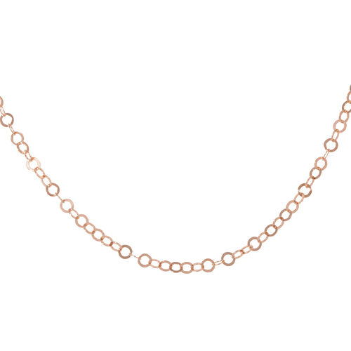 Designer Inspired - JCK 2017 Collection - Rose Gold Overlay Sterling Silver Circle Link Necklace (Size 24), Silver wt 4.50 Gms.