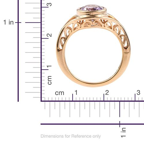 Amethyst (Ovl) Solitaire Ring in 14K Gold Overlay Sterling Silver 1.750 Ct.